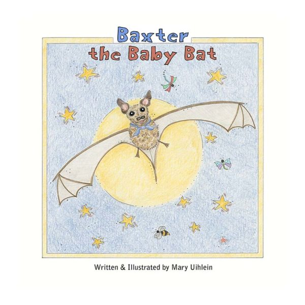 Baxter The Baby Bat Book Cover Graphic