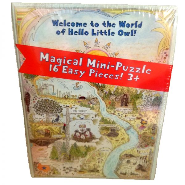 Puzzle box cover of the Hello Little Owl map of Little Owl's world